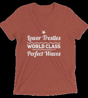 Lower Trestles World Class Surf Spot tshirt