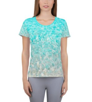 Sea Shore Womens Rashguard-Athletic Shirt