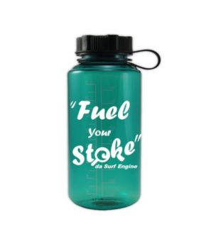 32 oz wide mouth water bottle for a day at the beach da surf engine fuel your stoke