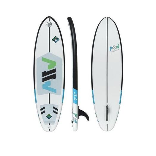 MSW inflatable surfboard single fin front and back view